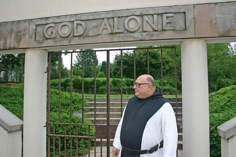 A monk at the Abbey of Gesthemani in Trappist, Kentucky