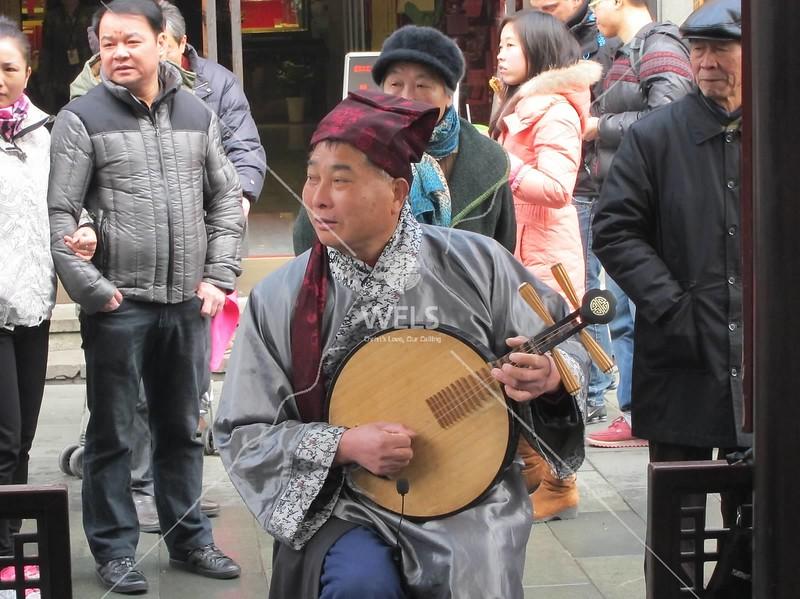 Chinese instrument, HuFang Market, Hangzhou, Zhejiang Province, China by kstellick