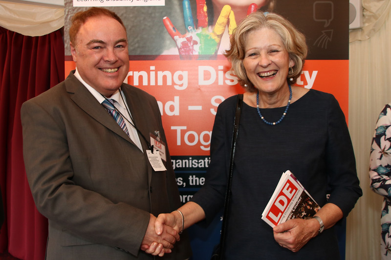 Gary Bourlet and Baroness Sheila Hollins at the launch of Learning Disability England. House of Lords June 2016