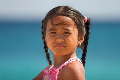 sandy beach, girl on the beach