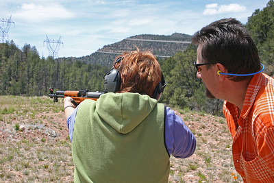 Shooting in the Arizona mountains