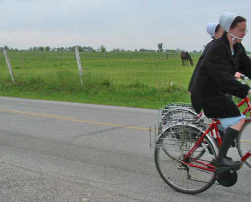 Amish in Indiana.