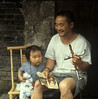 Father and daughter, China