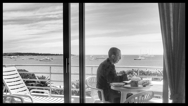 Man at Breakfast on the Terrace