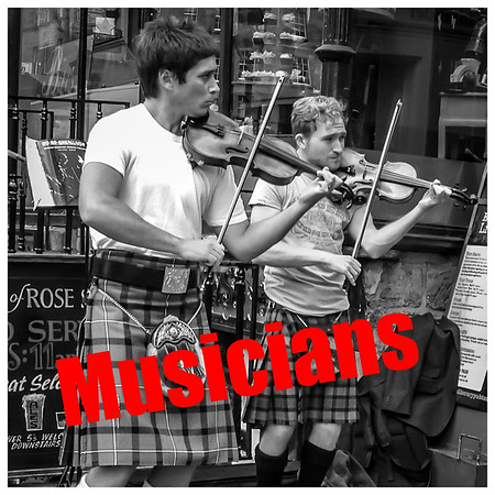 Kilted Busking
