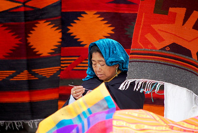 The old lady in Otavalo market.