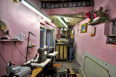 Shoe Repair shop, Isfahan, Iran.