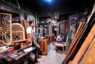 Inside a local repair shop, Isfahan, Iran.