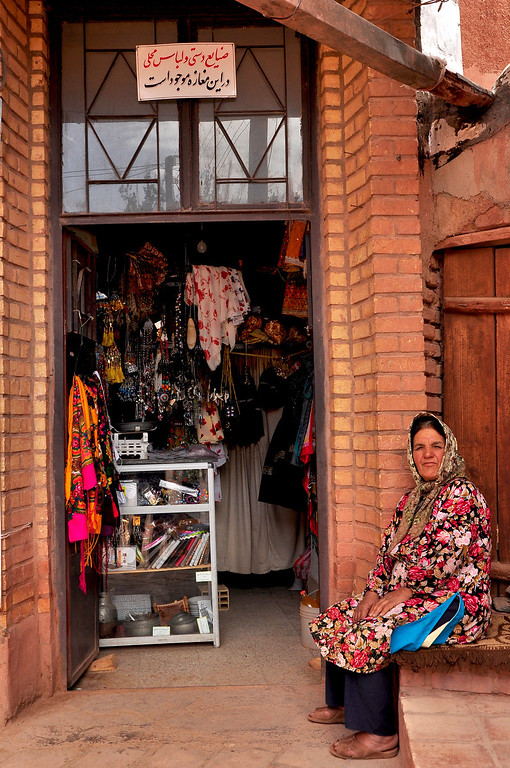 Local lady of Abyaneh, Iran.