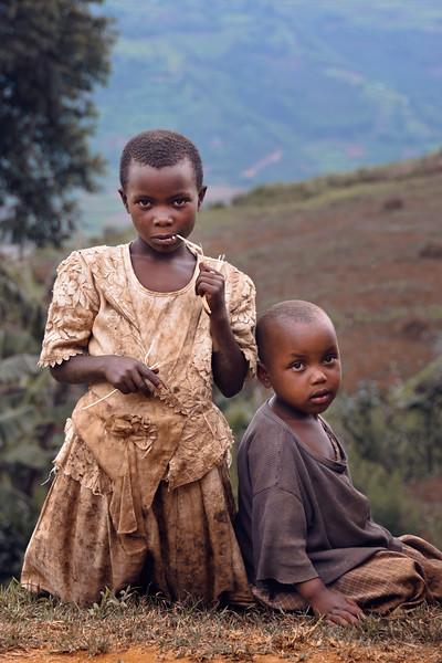 Orphans on a hillside ~ Lake Bunyonyi, Uganda