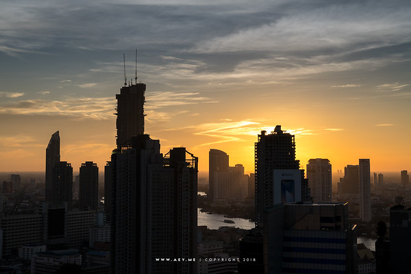 Sunset scene view from Mode Sathorn