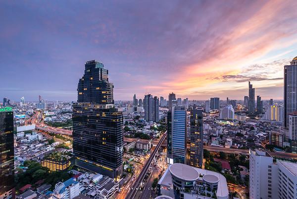 The Bangkok Sathorn and the Cityscape of Bangkok