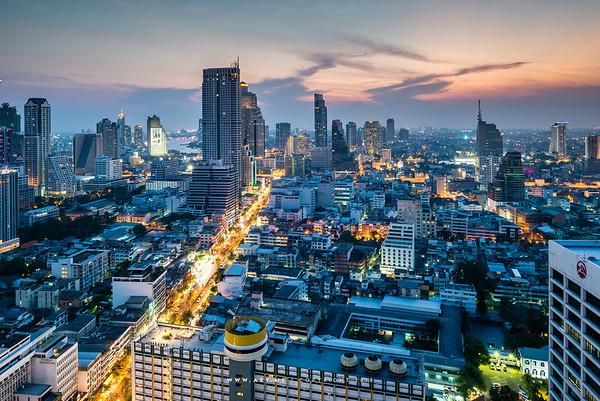 Bangkok view from Scarlett Wine Bar & Restaurant at Pullman Hotel G