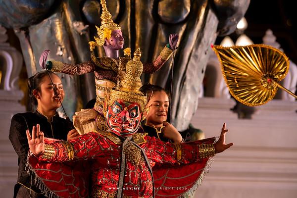 Nataya Bangkok, Traditional Thai Puppet Performance, the 150th Anniversary of Wat Ratchabophit