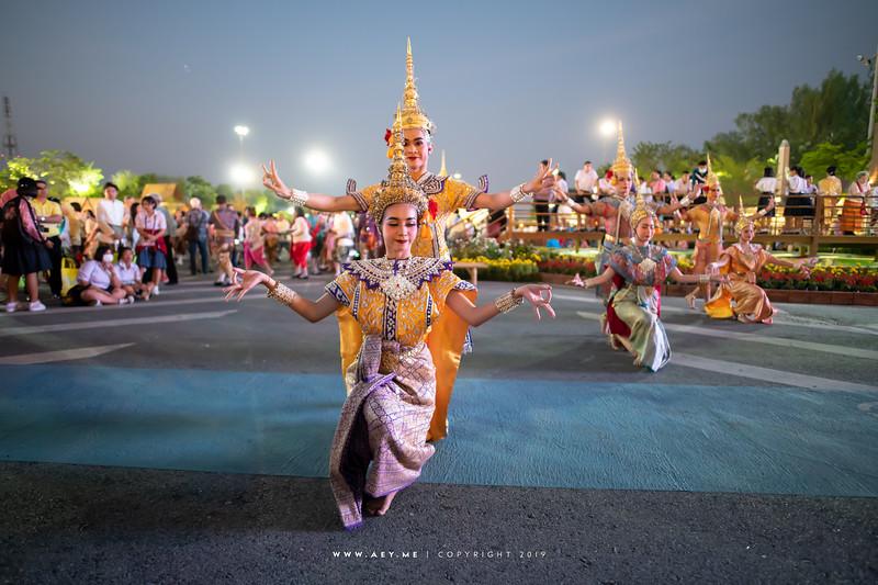 "Khon Performance ""The Battle"" in Un Ai Rak Khlai Khwam Nao, the River of Rattanakosin"