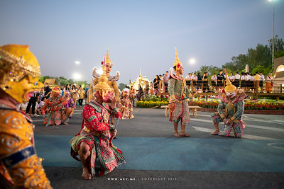 "Khon Performance ""The Battle"" in Un Ai Rak Khlai Khwam Nao, the River of Rattanakosin"
