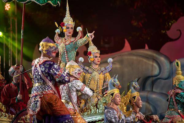 "Khon Performance ""Kumbhakarna Blocks the River"""
