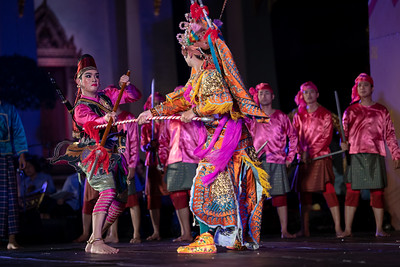 "Lakhon Panthang Dance Drama ""Samim Phra Ram Volunteers to Fight"" and ""Smim Phra Ram's Wedding"""