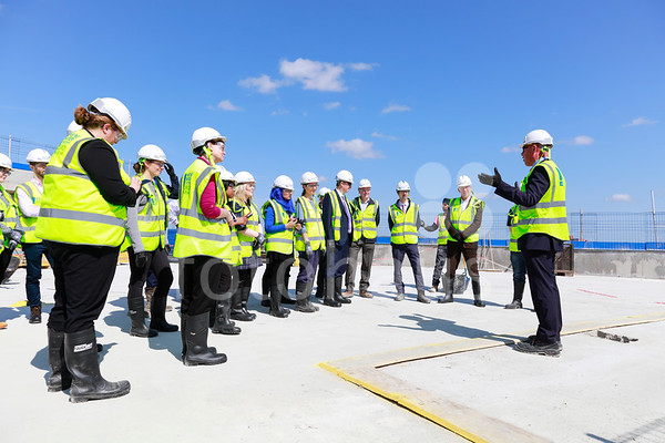 3 Glass Wharf topping-out ceremony