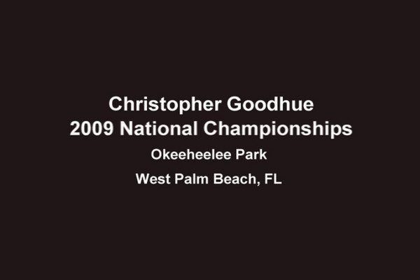 Christopher William (13) skiing at the 2009 National Championships - West Palm Beach, FL
