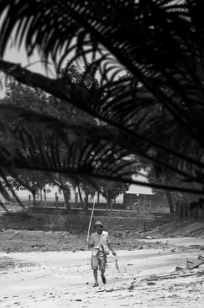 Fisherman Carita Beach, Indonesia. October 2006
