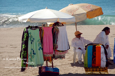 Vendor on Puerto Vallarta Beach, Mexico December 2006