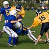 Sammy makes a tackle.
