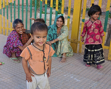 Family living on the platform of the train station in Ranthambhore.  They had one small bag of possesions.  Beautiful smiles.