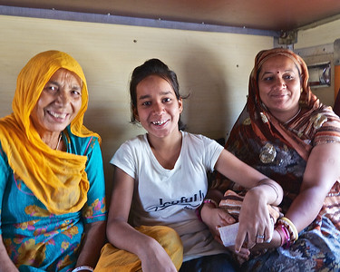 Our sleeper car companions on the 6-hour train ride from Delhi to Ranthambhore.  Dad was meditating overhead.  They spoke no English, we spoke no Hindi, but smiles are universal.