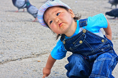 Young Mongolian child in Ulan Baataar, Mongolia