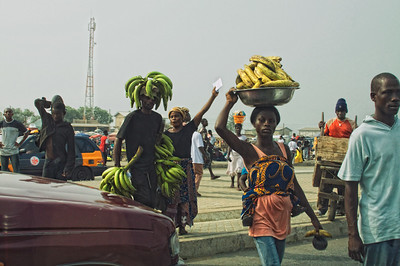 Streetside Fruit Vendors in Accra, Ghana