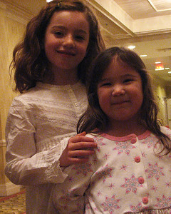 Alexis Sullivan and Halle Aiken, great grand nieces at Isadore Millstone 100 th birthday, January 7, 2007