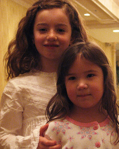 Alexis Sullivan and Halle Aiken great grand nieces at Isadore Millstone 100 th birthday, January 7, 2007
