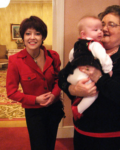 Angela Khan, Sophie (3 months) with Beth Roman at Isadore Millstone 100 th birthday, January 7, 2007