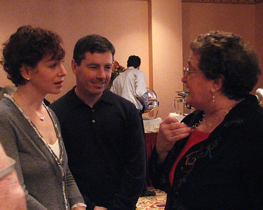 Lisa Isenman with husband Christian Sullivan and Beth Roman at Isadore Millstone 100 th birthday, January 7, 2007