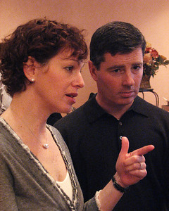 Lisa Isenman with husband Christian Sullivan at Isadore Millstone 100 th birthday, January 7, 2007