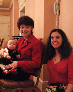 Angela Khan and Sophie with Rachel Jameton at Isadore Millstone 100 th birthday, January 7, 2007