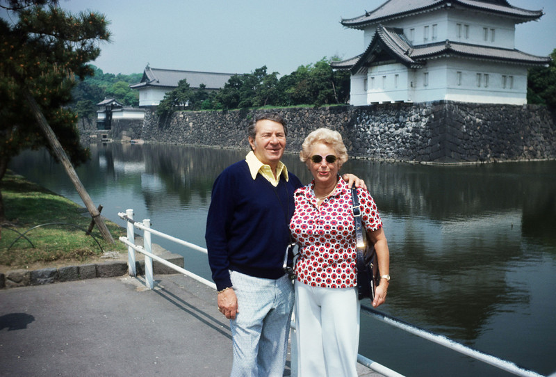 Mel and Adele, 1977, in the Orient, ages 62 and 57