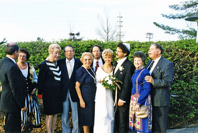 Ruben wedding 1995 Dick Beth Betty Mel Adele Robert Birgit Ruben Gloria Sandy