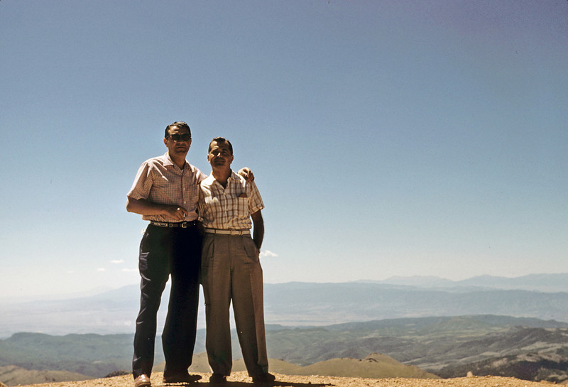 Mel and Joey Gillerman on top of the Pike's Peak, age 41