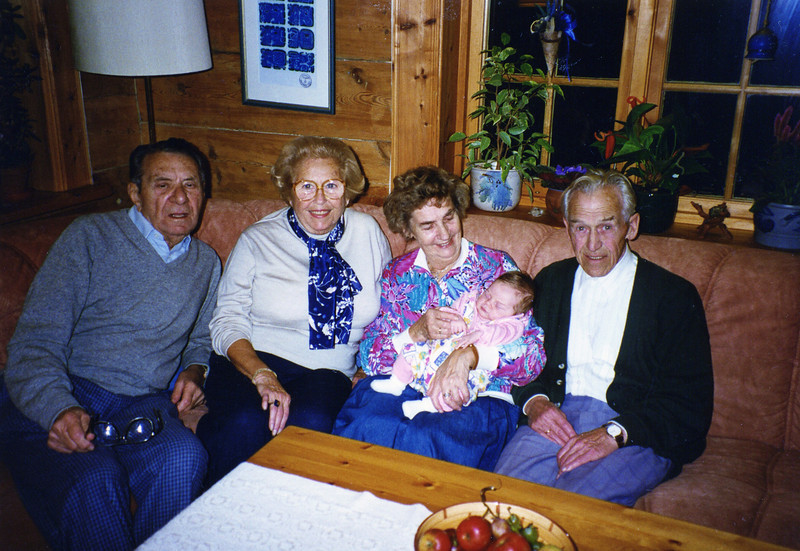 Mel, Adele, and Birgit's parents and the little one is Julie! summer 1997