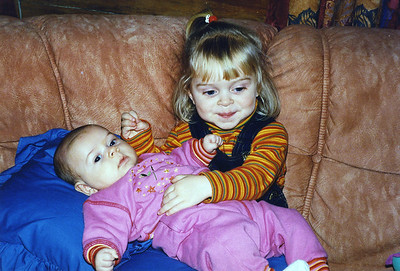 One proud big sister Julie with her best little friend, Hannah
