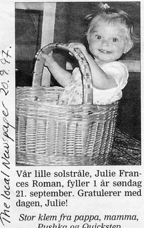 Julie, 1997