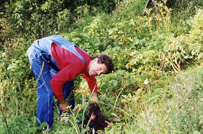 Ruben in the garden
