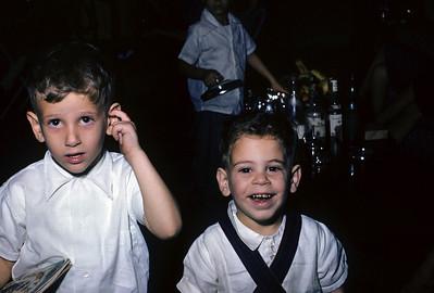 Randy Spitzer and Ruben Roman, 1955
