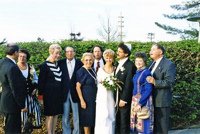 Ruben wedding 1995 Dick Beth Betty Mel Adele Robert Birgit Ruben Gloria Sandy