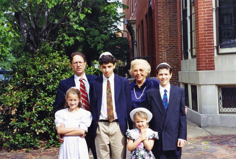 Sara Rose Robert Ben Cristina Adele and Matt something religious, around 1992
