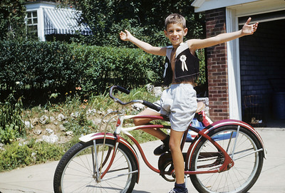 Dick at 8, learned to ride a 2 wheeler