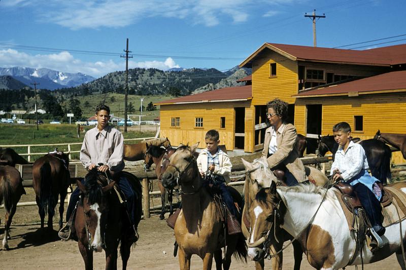 Dick Robert Ruben and Adele on horse