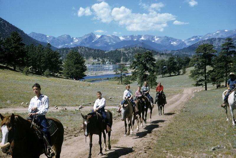 Dick Robert Susie Gillerman Ruben on horses